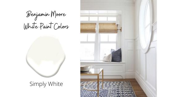 Benjamin Moore Simply White: Top 8 White Paint Colors from Benjamin Moore in 2020
