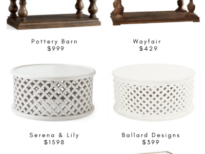 Splurge v Steal Coffee Tables roundup for Home Decor
