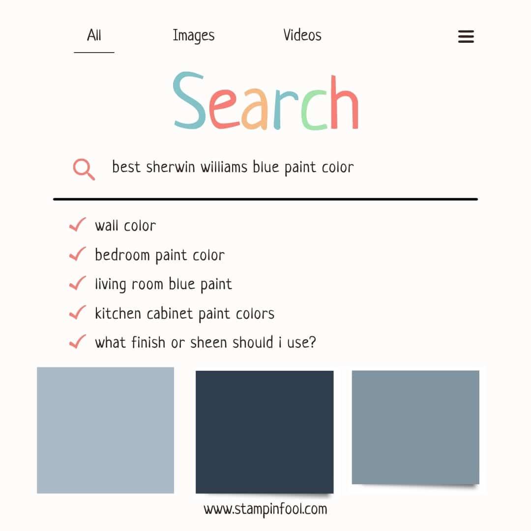 google graphic of best blue paint color questions