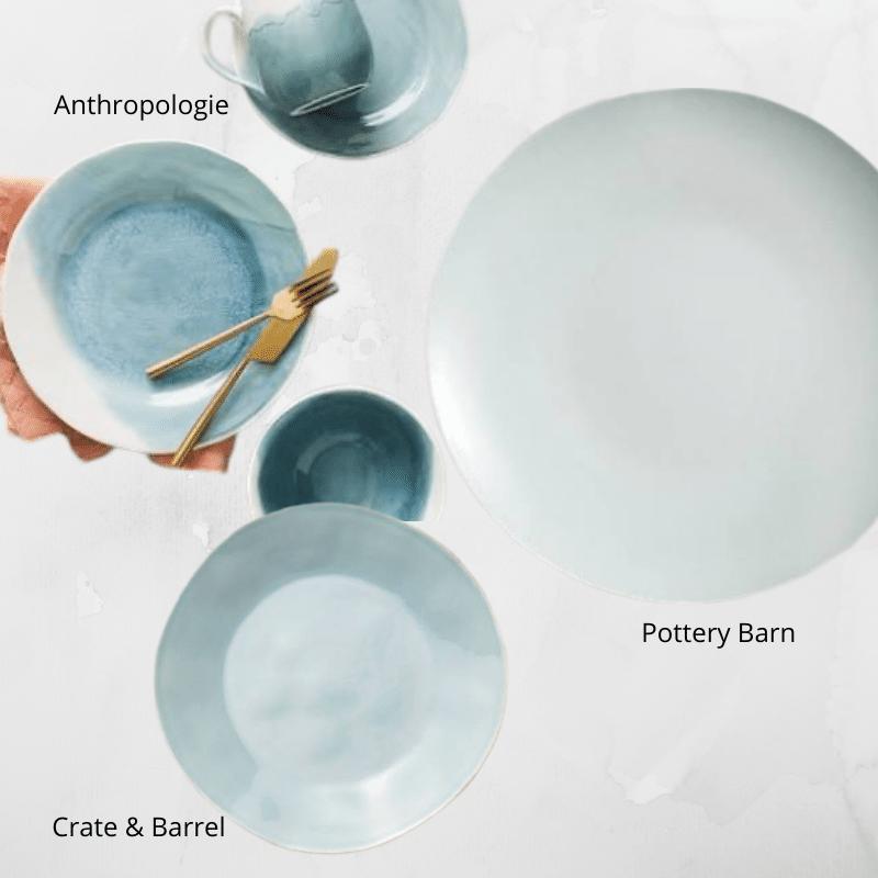 Blue Summer Plates
