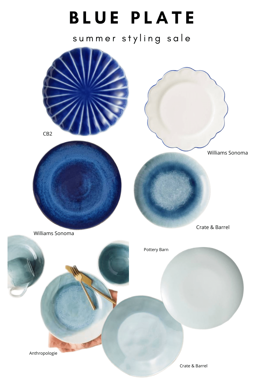 Grab these blue plates on SALE for your summer table styling.