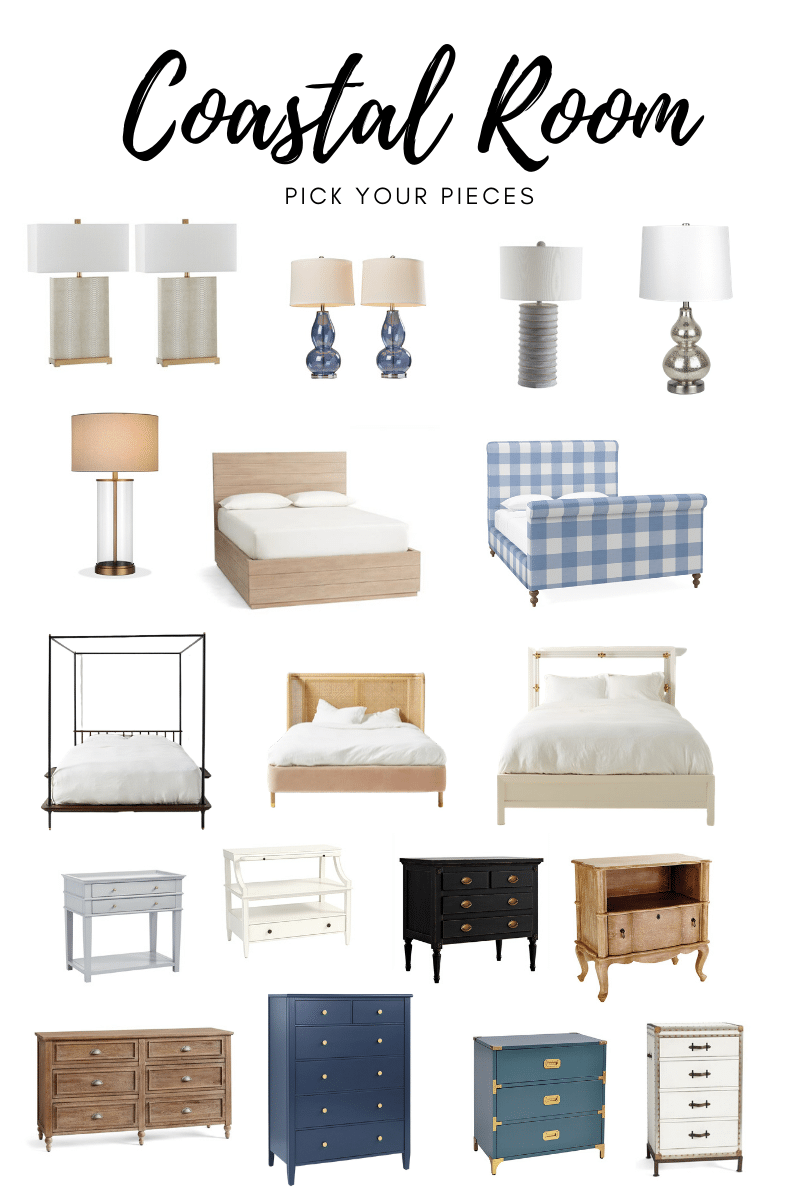 Bedroom Design Tips + Inspiration for Coastal Bedroom Furniture Pairings