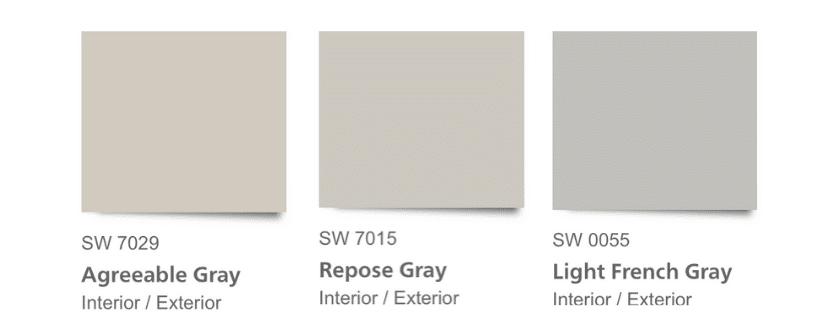 SW Gray Paint Comparisons