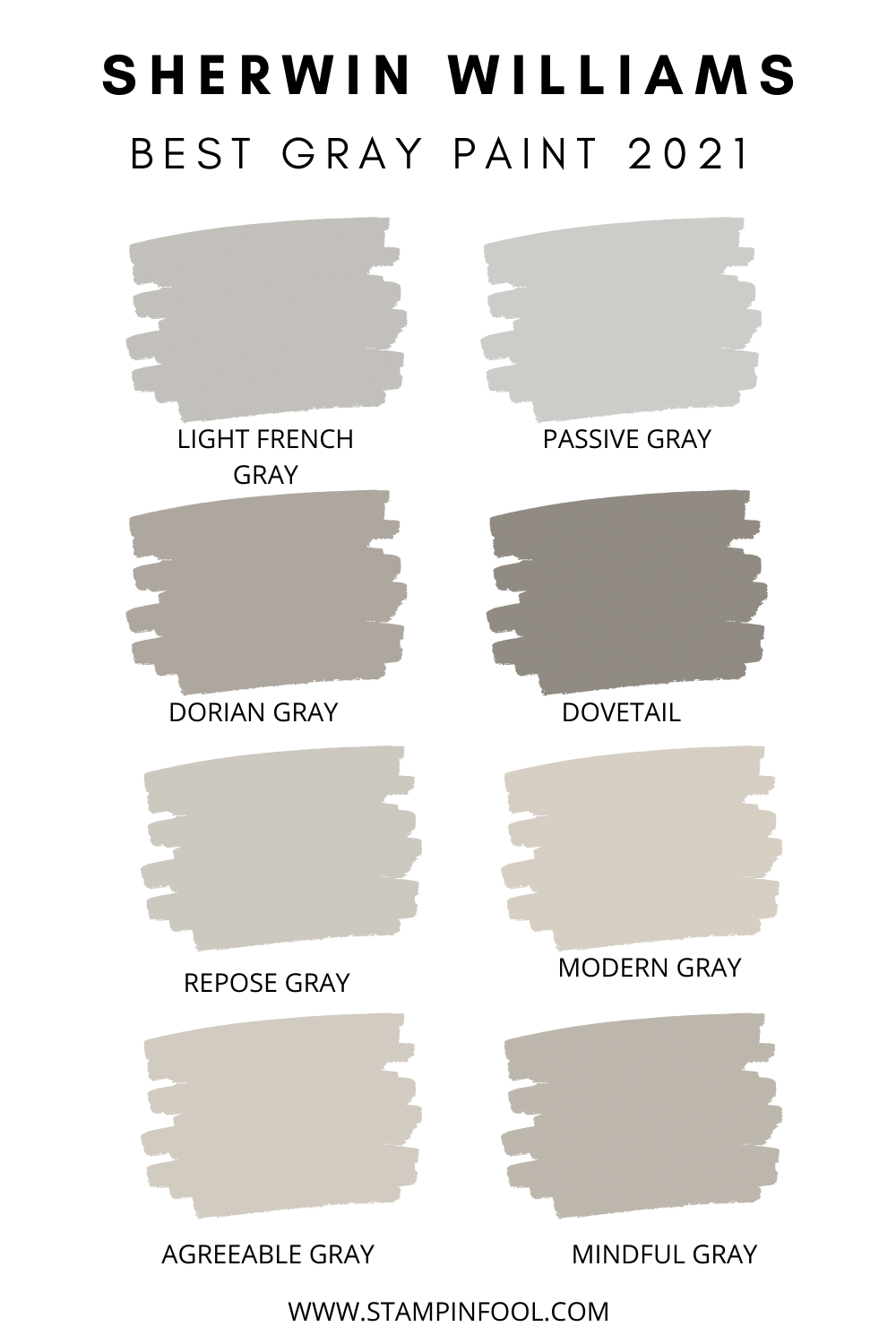 The Best Sherwin Williams Gray Paint Colors in 20   StampinFool.com