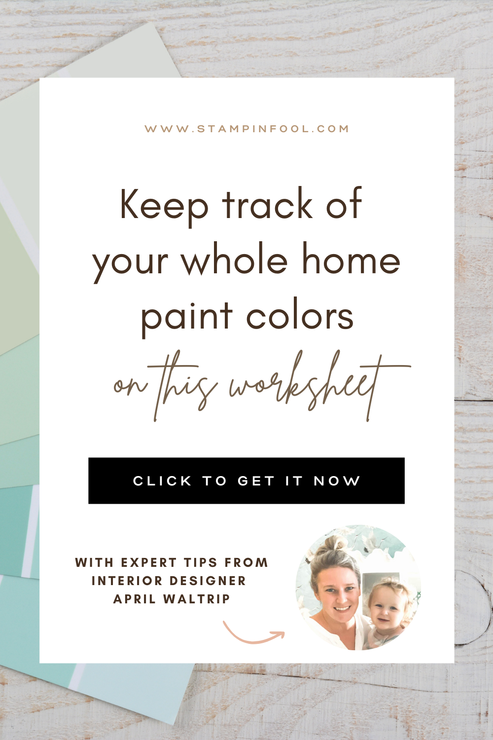 Home Paint Planner & Tracker: Keep track of your home's paint colors with this printable worksheet