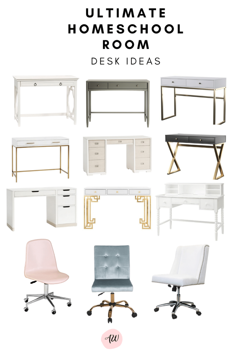 Get Homeschool Room Desk Ideas for the upcoming school year. Set up the perfect space for virtual learning or homeschool for your kids.