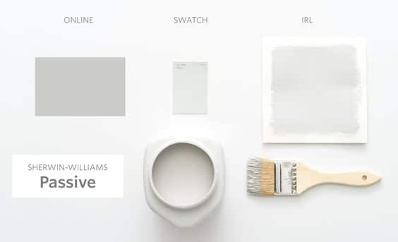 SW Passive Gray Paint Sample Board from Apartment Therapy