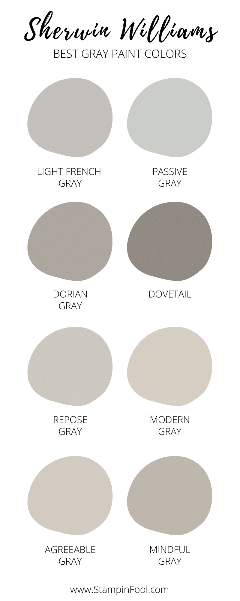 Sherwin Williams Best Gray Paint Colors 2021