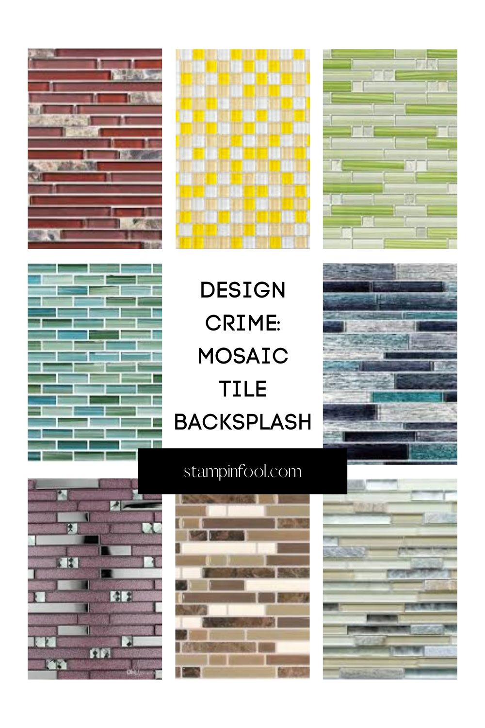 Interior Design Crimes: Mosaic Pencil Tile Backsplash
