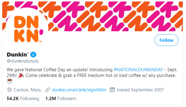 National Coffee Day 2020 Deals on Coffee at Dunkin Donuts
