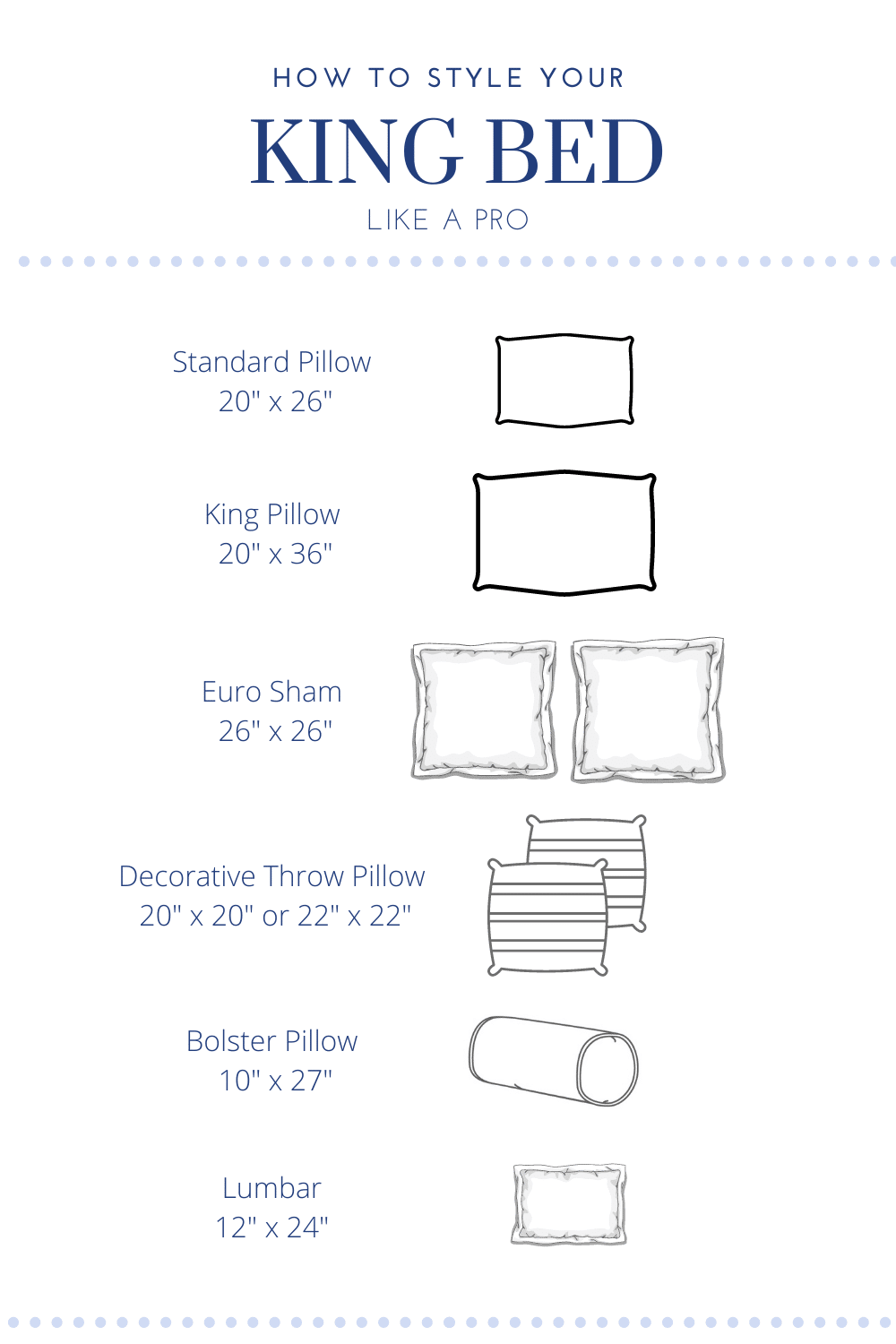 Style Your King Size Bed Like A Pro Pillow Cheat Sheet