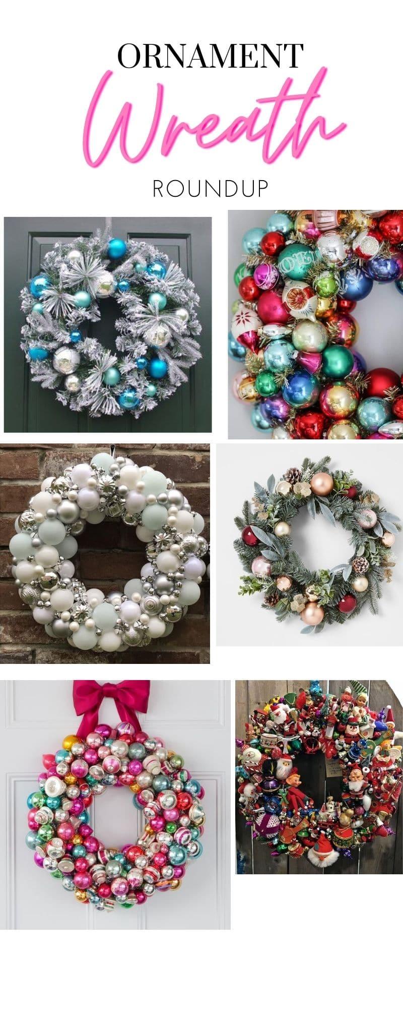 DIY Ornament Wreath RoundUp