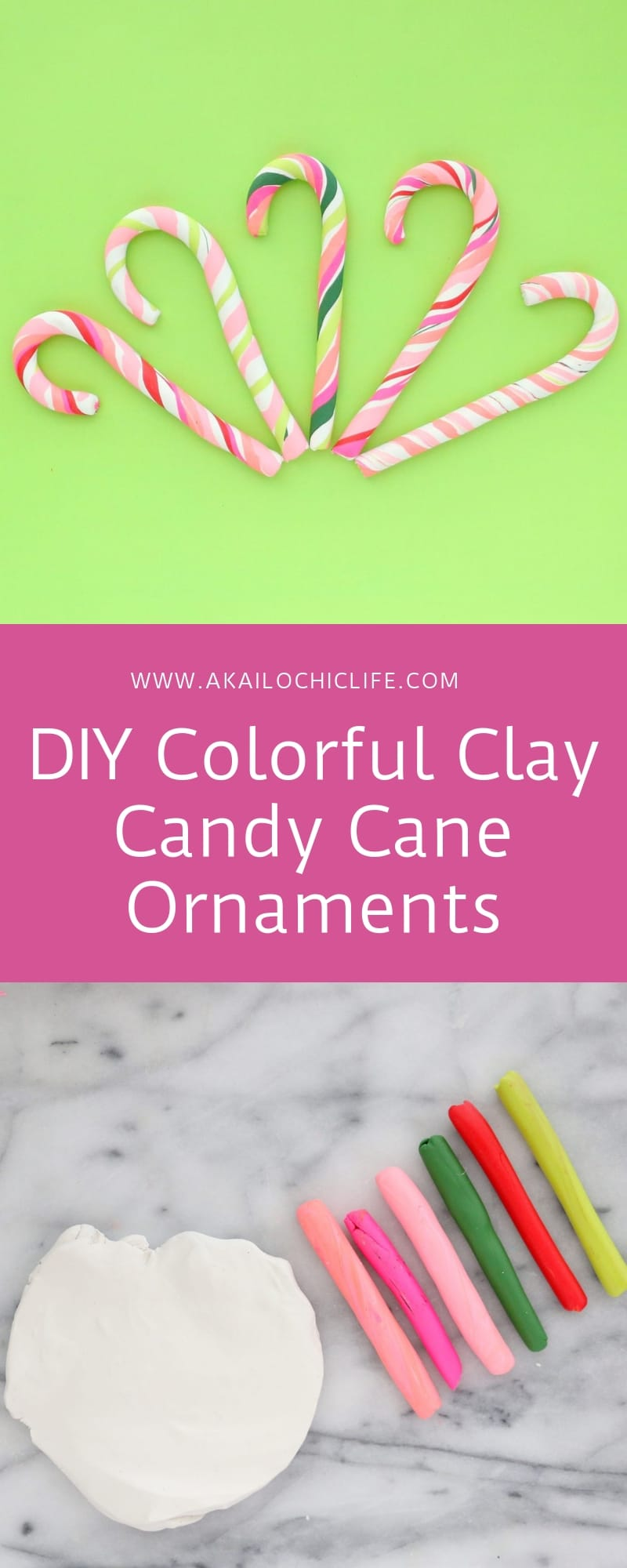 Colorful Candy Cane Ornaments