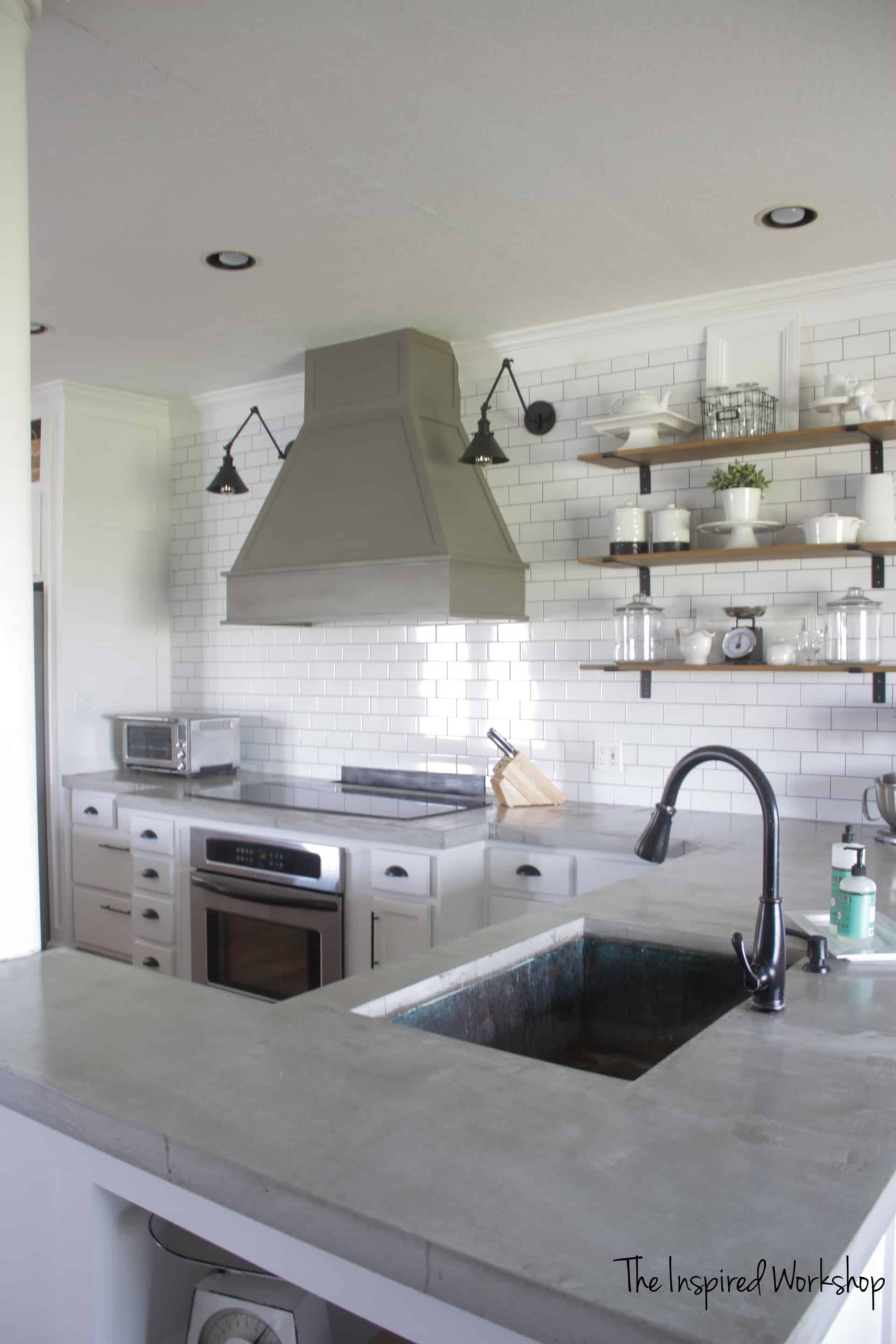 17 DIY Countertops to Update Your Kitchen this Weekend on a Budget: Concrete Counters