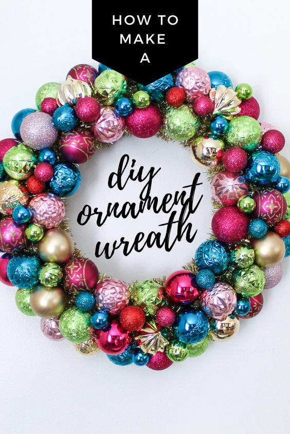 How to Make a DIY Vintage Ornament Wreath