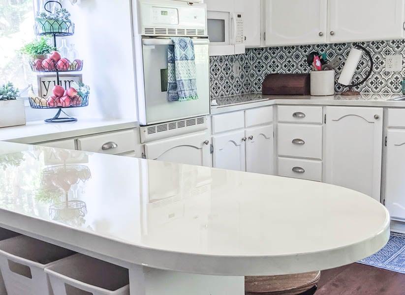 DIY Granite Painted Countertops + 16 other Countertop DIY's