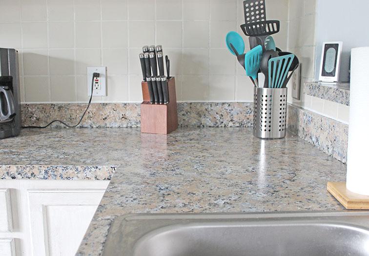How to DIY Granite Paint Countertops