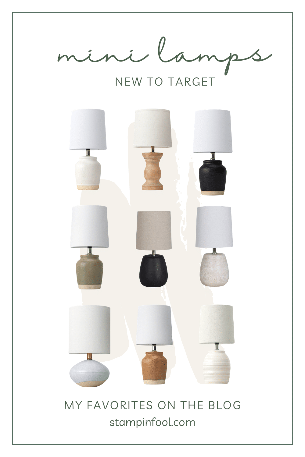 $10 Mini Lamp Roundup from Target Stores
