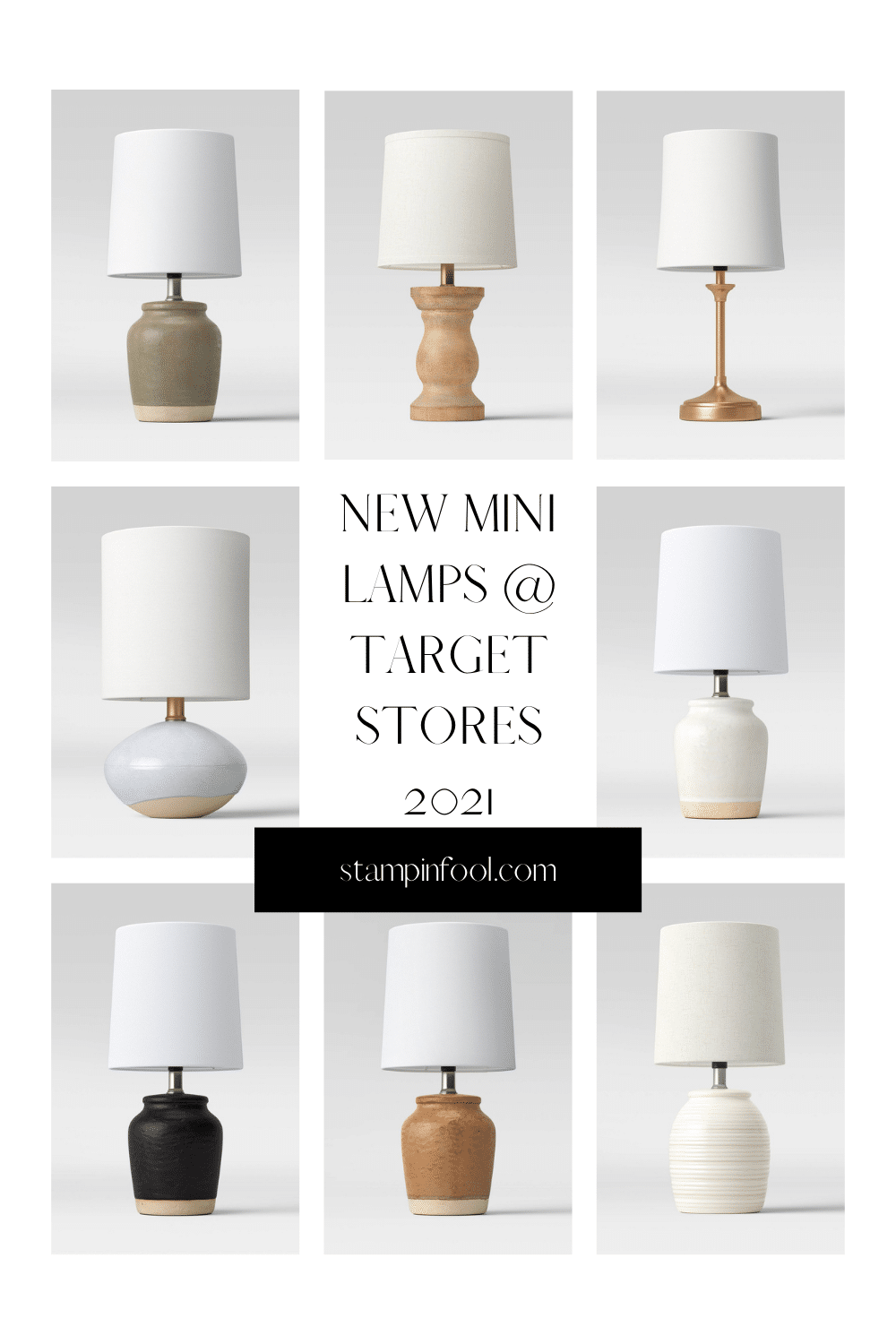 The Best Farmhouse Mini Lamps at Target for $10
