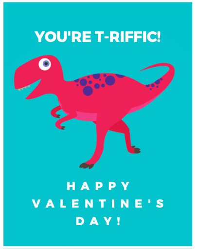 8 FREE Valentine's Day Printable Cards: Unicorns, Dino, Monsters + More