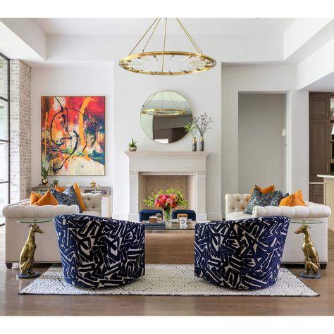 Bold Beautiful Living Room Swivel Chairs
