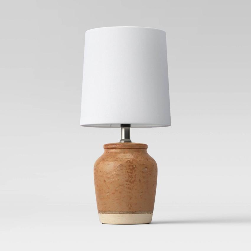 Cognac Textural Ceramic Mini Lamp - Threshold™