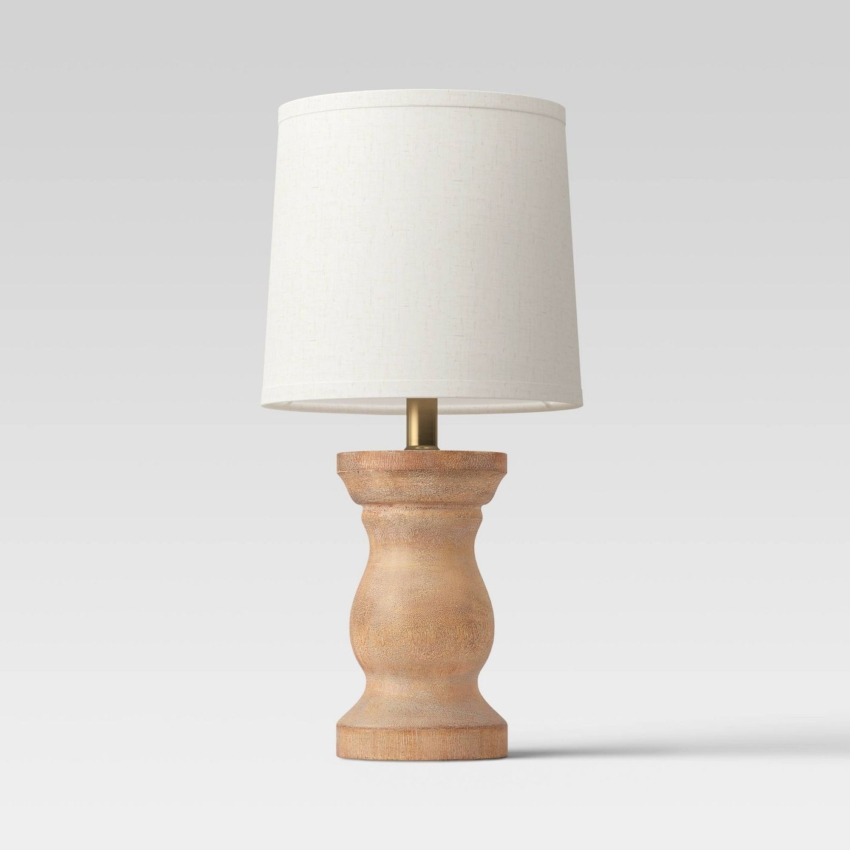 Traditional Wooden Mini Accent Lamp - Threshold™