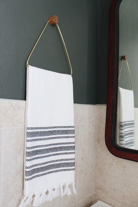 DIY Hand towel bathroom hook