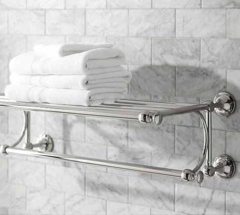Train Racks make great bathroom towel storage