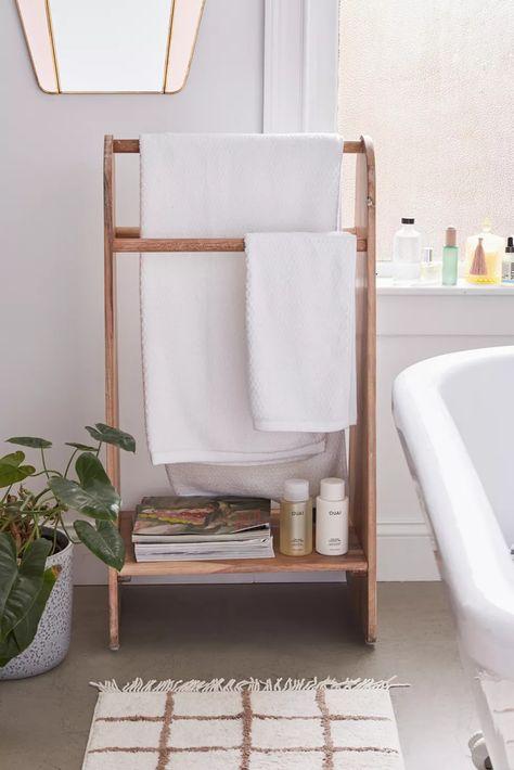 Standing Rack Bathroom storage: 21 Bath Towel Storage Solutions