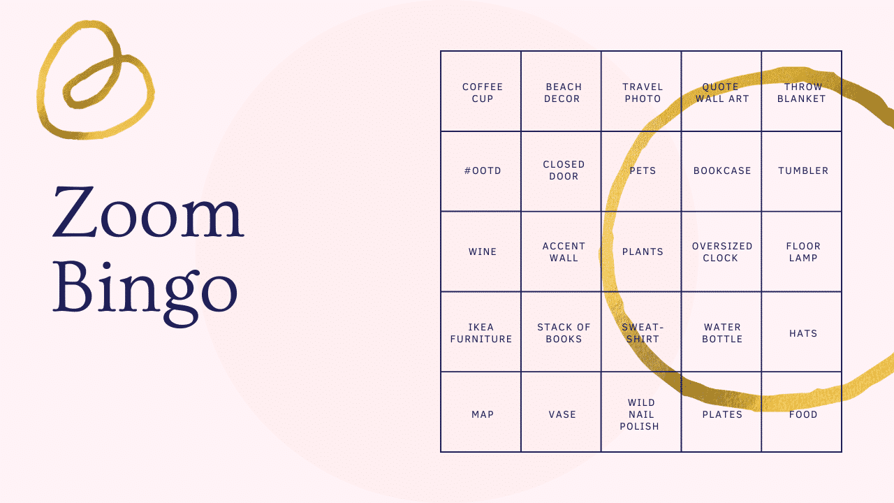Zoom Home Decor Bingo