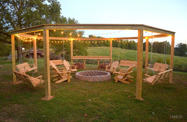 Outdoor Pergola and Fire Pit Plans