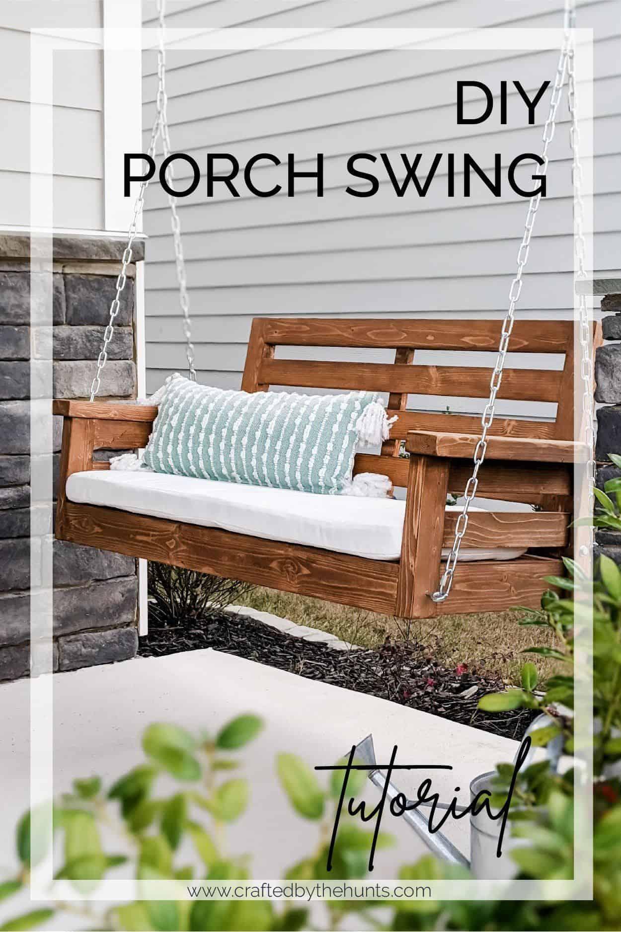 DIY porch swing tutorial