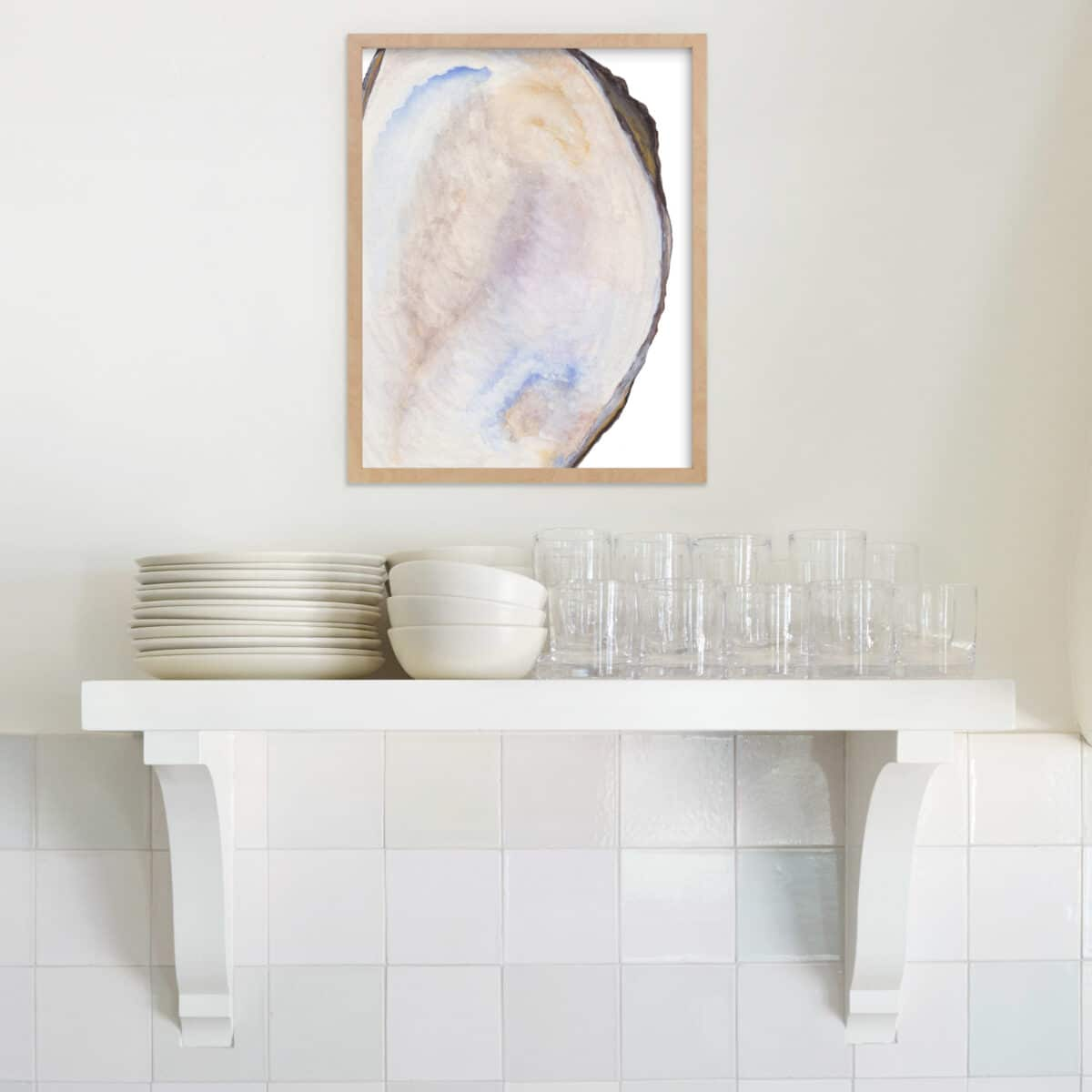 Oyster Art as part of the Coastal Home Decor Look