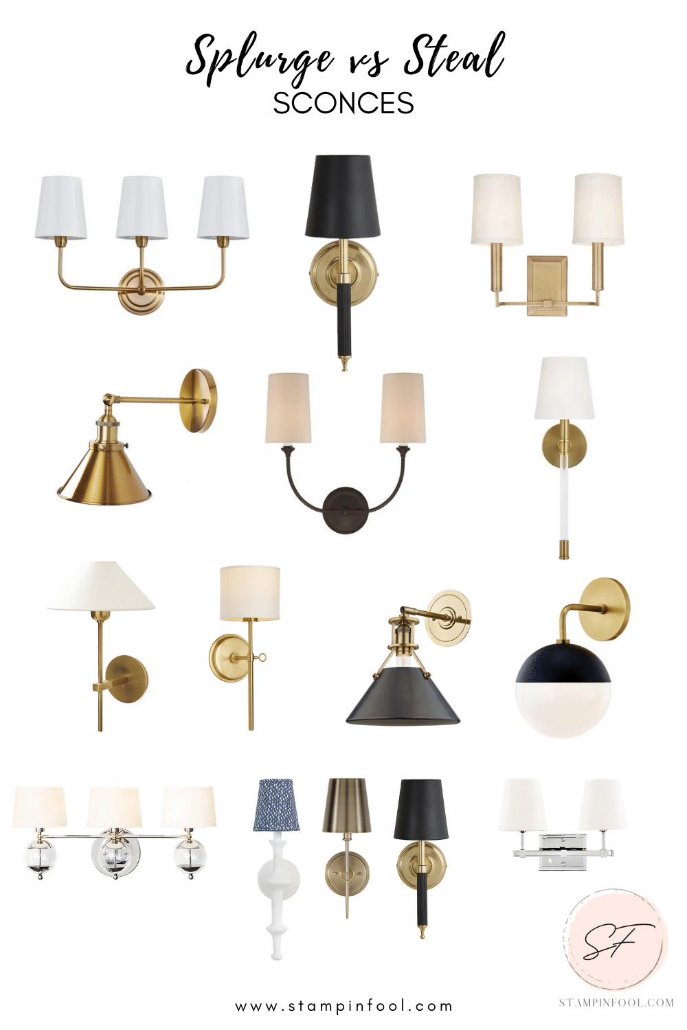 Gorgeous Sconces You Need in Your Life Right Now- Splurge vs Save