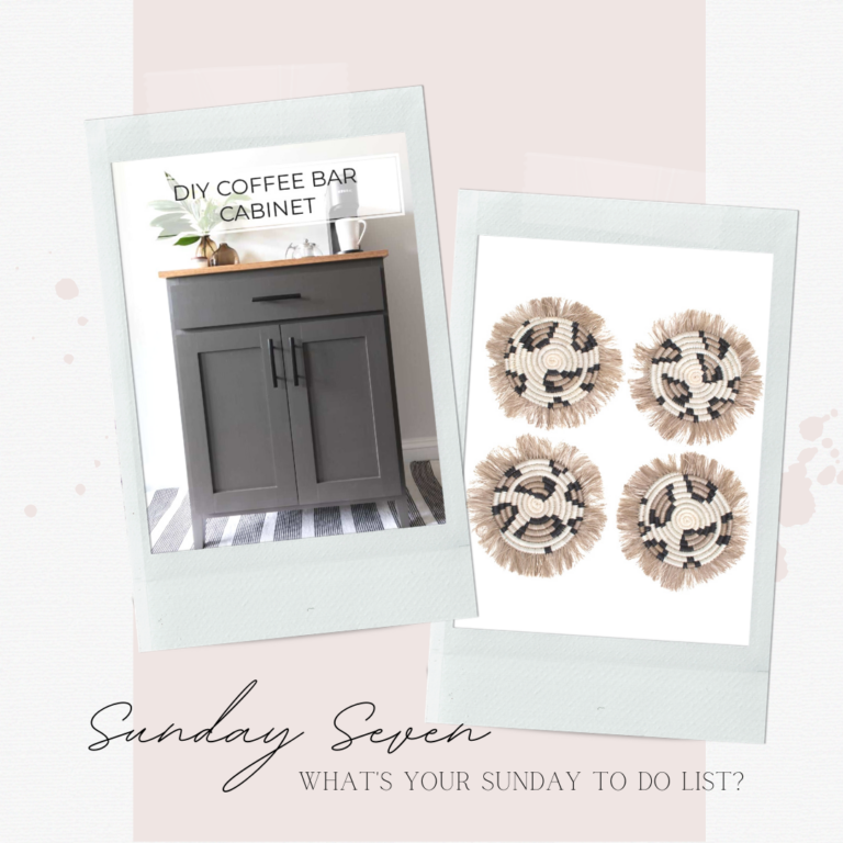 Sunday 7 things all about coffee, from a DIY coffee bar to a french press and coffee cake recipe.