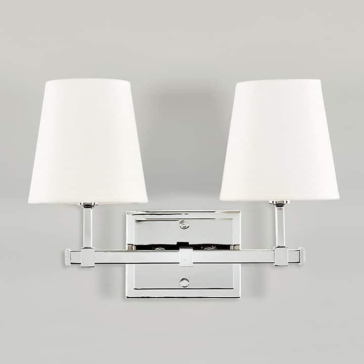 Gorgeous Sconces: Silver double wall sconce