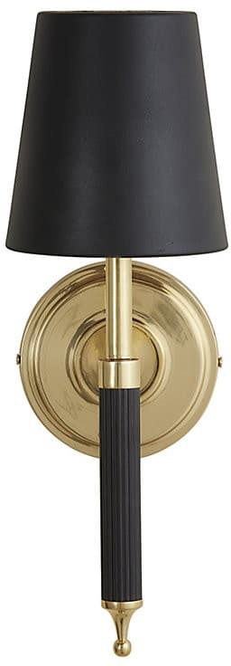 Gorgeous Sconces: Black and brass wall sconce