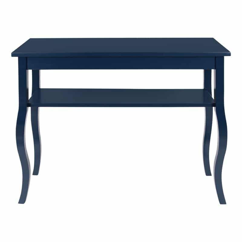 Narrow, blue entryway console table from Wayfair for under $150