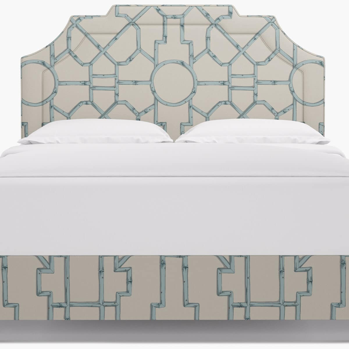 Upholstered beds are grrandmillennial