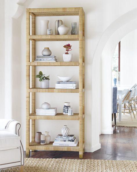 Coastal bookcase styling tips, plus the best bookshelf styling products.