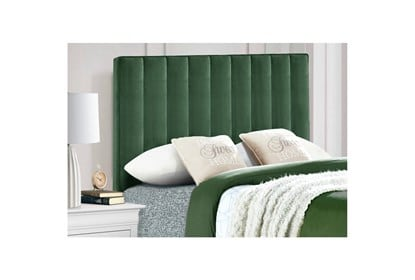 This image has an empty alt attribute; its file name is 264193_green_fabric_headboard_room_90.jpeg