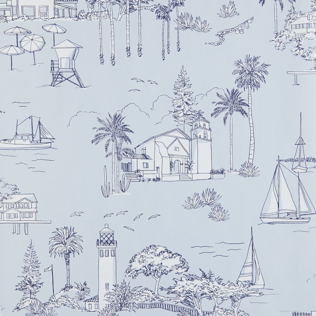 Outdated Decorating Trends: Wallpaper. We love an updated Toile Wallpaper