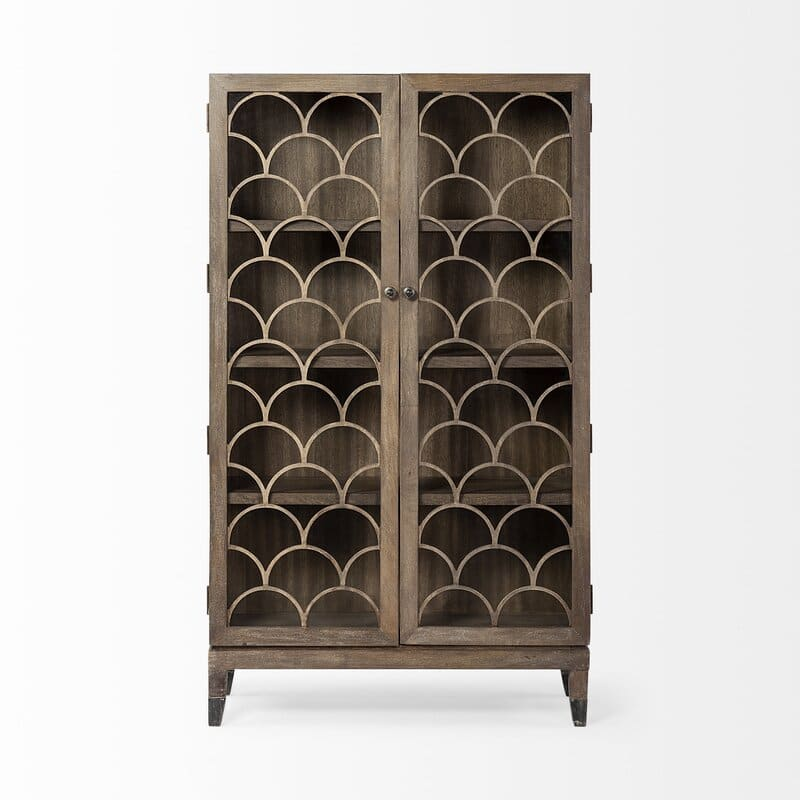 Gorgeous Scalloped Door Display Cabinets from Wayfair in 2021