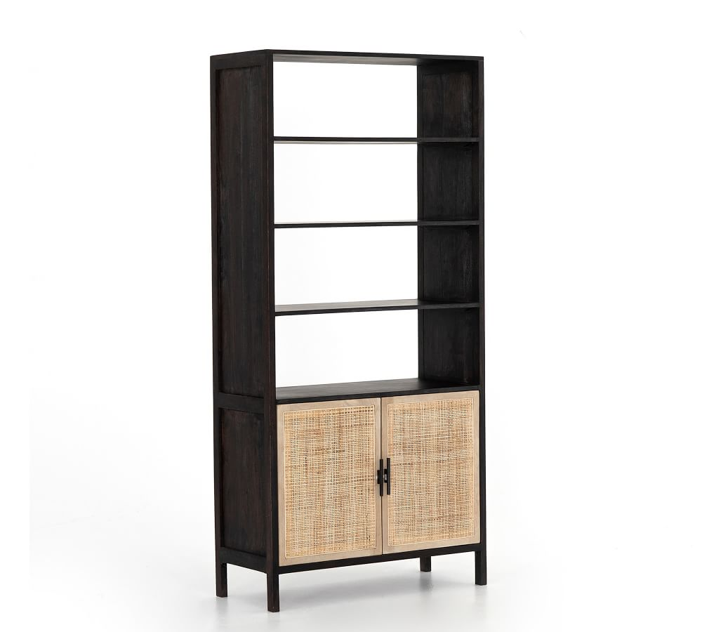 Cane and black display decorative cabinets in 2021