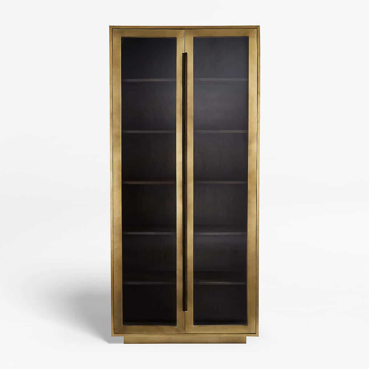 The Best Modern Glass Door Cabinets, Gold Display Cabinets and Arched Cabinets in 2021 from Crate & Barrel