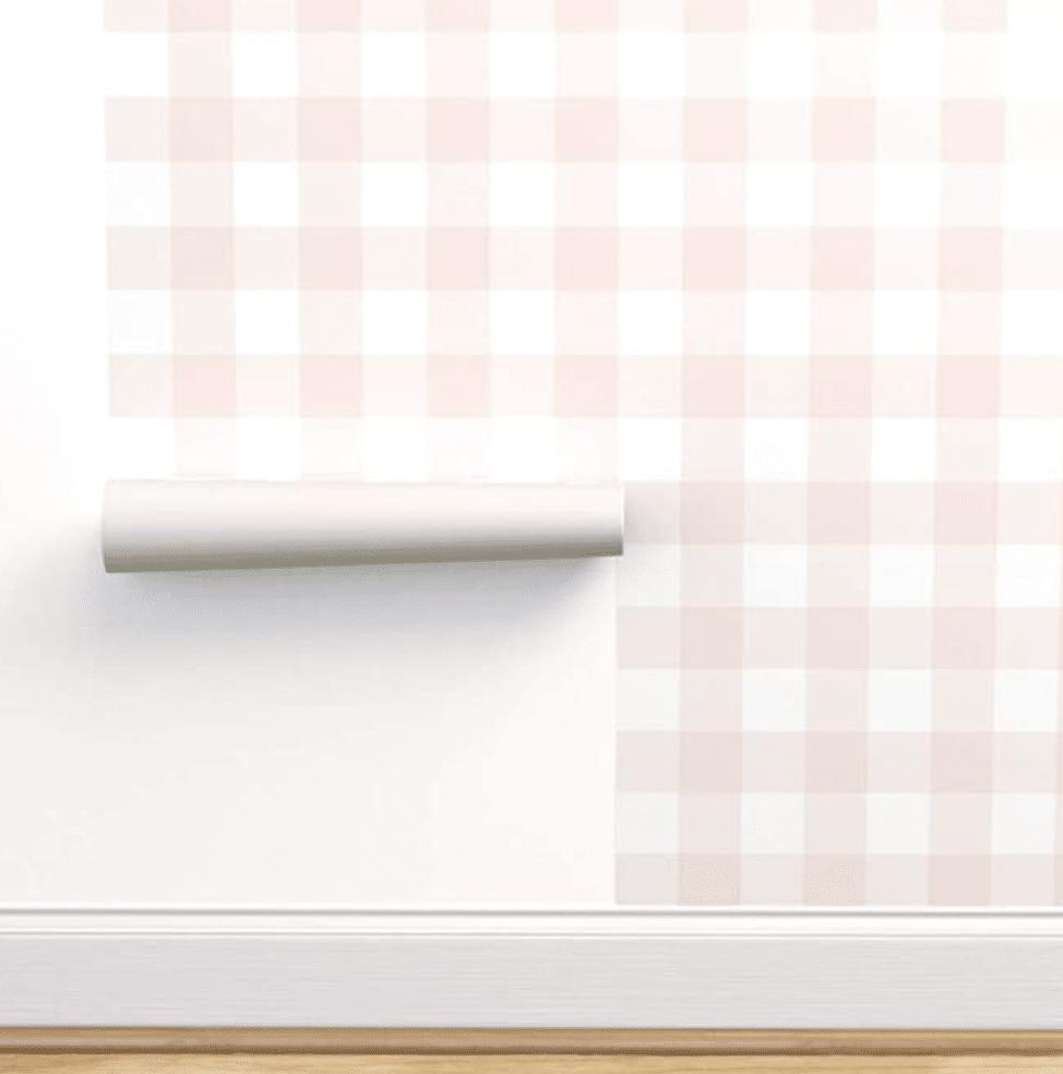 Pink Buffalo Check Peel and Stick Wallpaper