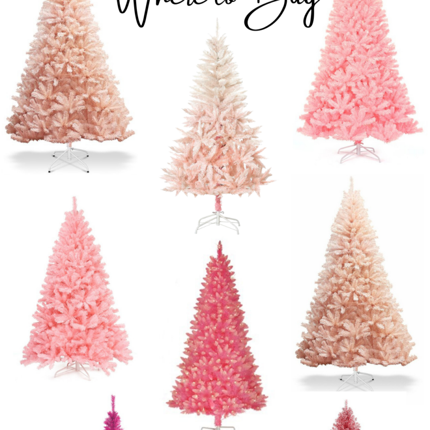 ULTIMATE GUIDE TO PINK CHRISTMAS TREES + TREE COLLARS, SKIRTS & ORNAMENTS (2021) Where Buy Online