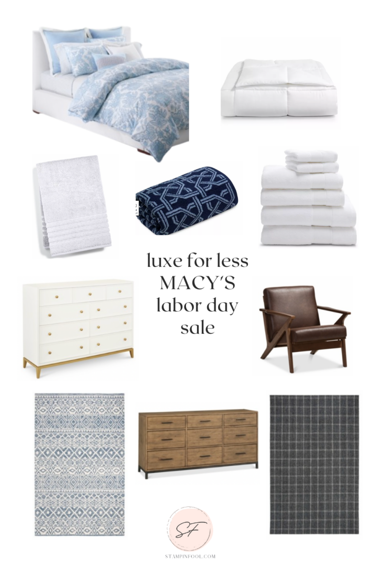 HOW TO MAKE A BEDROOM LUXE FOR LESS WITH THE MACY'S LABOR DAY SALE