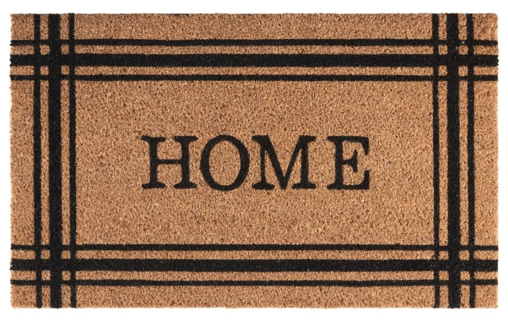 HOME coir door mat from Walmart is a staple for Fall porch decor.